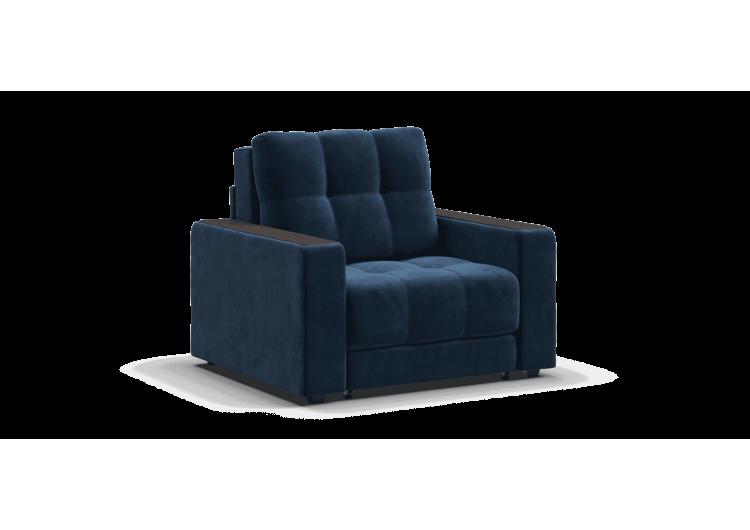 Кресло-кровать BOSS велюр Monolit синий