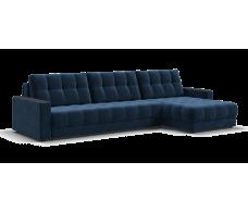 Угловой диван BOSS MAX велюр Monolit синий