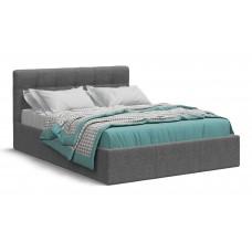 Кровать Белла 140*200 рогожка Malmo серая