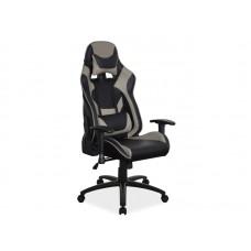Кресло компьютерное  SUPRA черный/серый NEW
