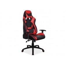 Кресло компьютерное  SUPRA черный/красный NEW