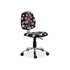Кресло компьютерное ZAP 1 черный деним NEW