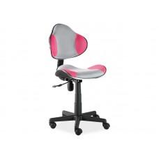 Кресло компьютерное  Q-G2 розово\серое