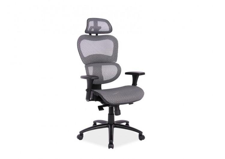 Кресло компьютерное Q-488 мультиблок, серое