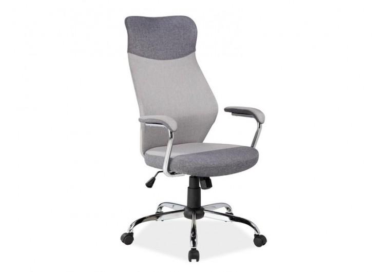 Кресло компьютерное SIGNAL Q-319 св.серое\т.серое