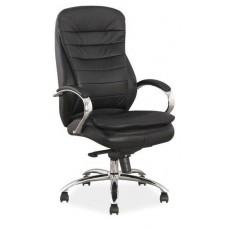 Кресло компьютерное SIGNAL Q-154 черное\кожа