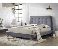 Кровать  DONA VELVET серый, 160/200 NEW