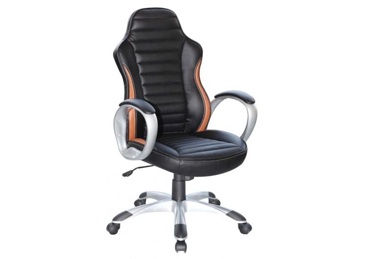 Кресло компьютерное SIGNAL Q-112 черно\коричневое
