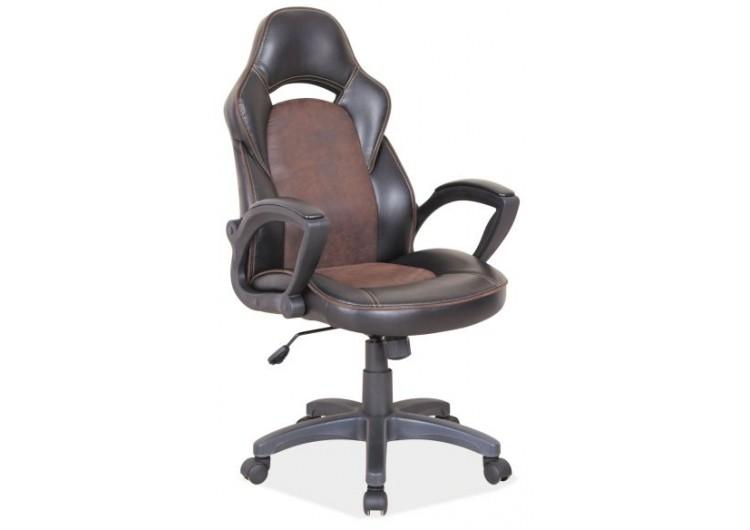 Кресло компьютерное SIGNAL Q-115 черно\коричневое