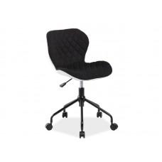 Кресло компьютерное  RINO белый/черный NEW