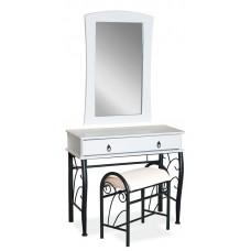 Комплект SIGNAL 1102 (стол туалетный+ табурет) бело\черный