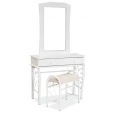 Комплект  1102 (стол туалетный+ табурет) бело\белый
