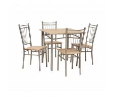 Комплект SIGNAL FIT (стол обеденный+ 4 стула) дуб сонома, 76/76/75