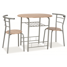 Комплект SIGNAL GABO (стол обеденный + 2 стула) дуб сонома