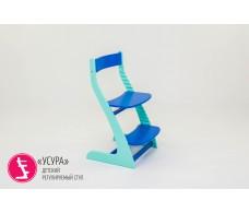 Детский растущий регулируемый стул  Усура  мятно-синий