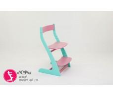 Детский растущий регулируемый стул  Усура  мятный-лаванда
