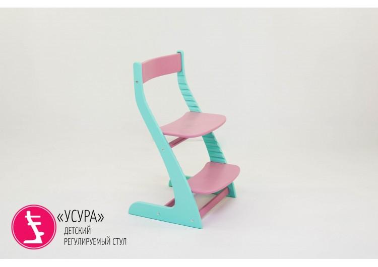 """Детский растущий регулируемый стул Бельмарко """"Усура мятный-лаванда"""""""