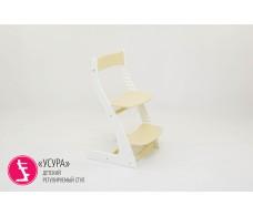 Детский растущий регулируемый стул  Усура  бело-бежевый