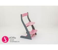 Детский растущий регулируемый стул  Усура  графит-лаванда