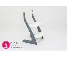 Детский растущий регулируемый стул  Усура  графит-белый