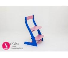 Детский растущий регулируемый стул  Усура  синий-лаванда