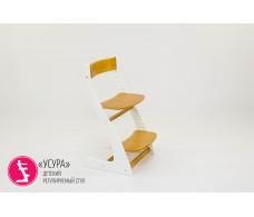 Детский растущий регулируемый стул  Усура  белый-дерево