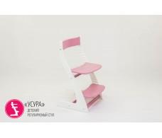Детский растущий регулируемый стул  Усура  белый-лаванда