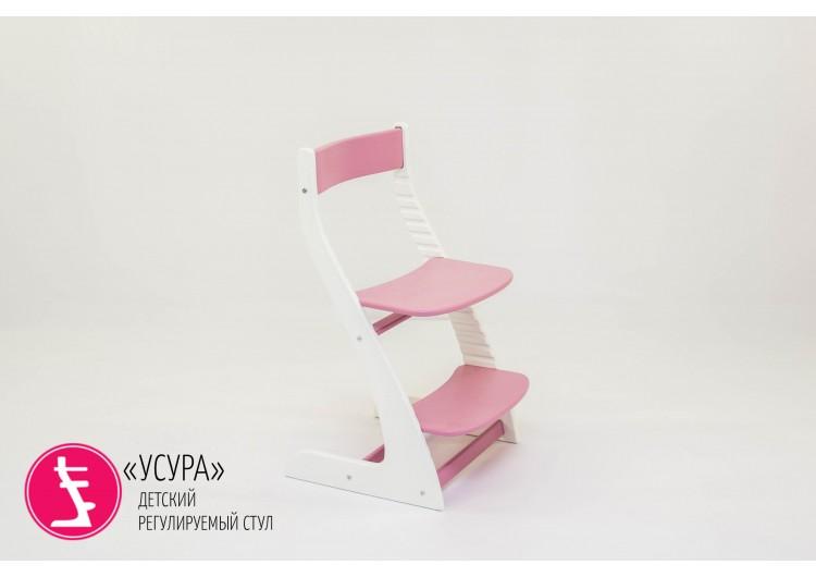"Детский растущий регулируемый стул Бельмарко ""Усура  белый-лаванда"""