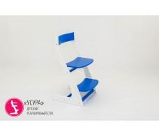 Детский растущий регулируемый стул  Усура  бело-синий