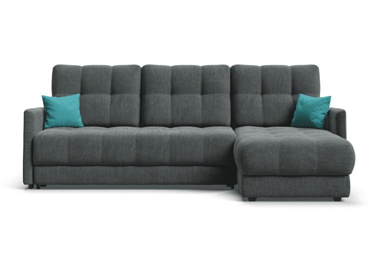 Угловой диван BOSS XL LOFT велюр Monolit серый