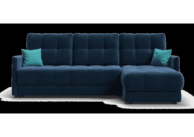 Угловой диван BOSS XL LOFT велюр Monolit синий