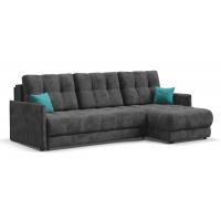 Угловой диван BOSS XL LOFT велюр Alkantara серый