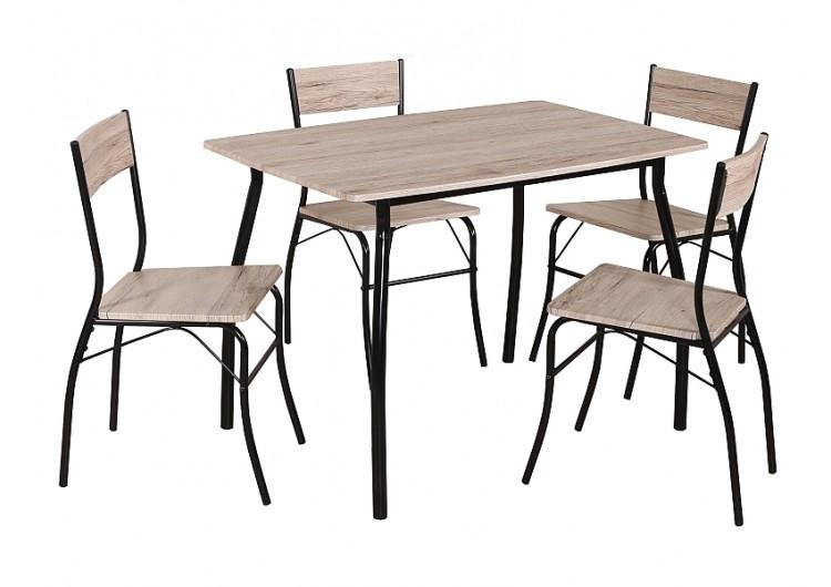 Комплект Signal MODUS, стол + 4 стула (дуб/черный)