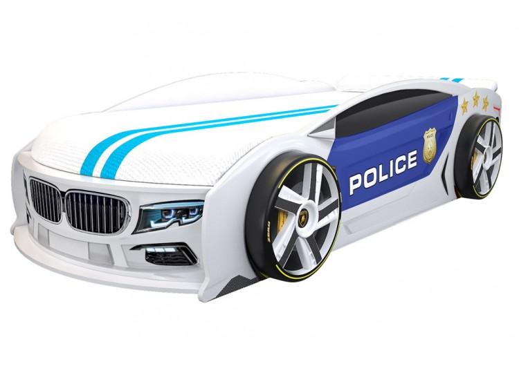 Детская кровать машина БМВ Манго Полиция 2