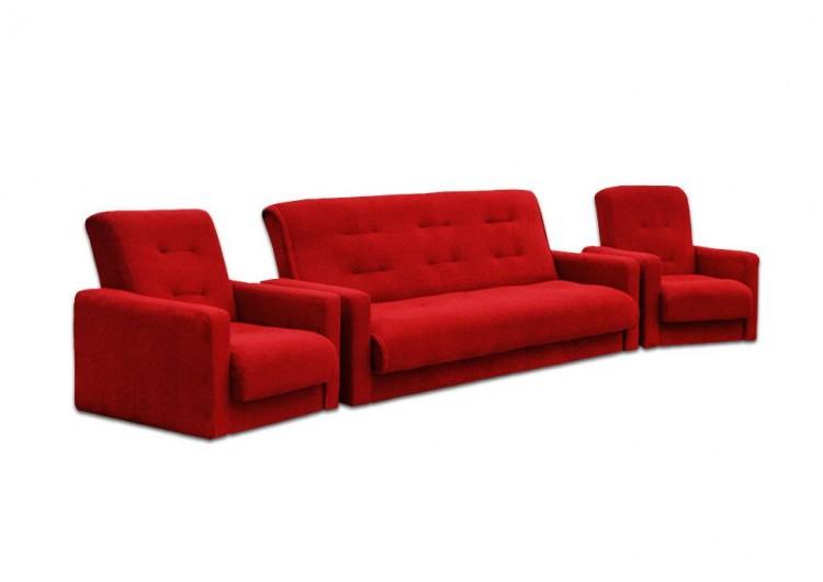 Диван Милан + 2 кресла бордо