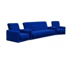 Диван Милан + 2 кресла синий