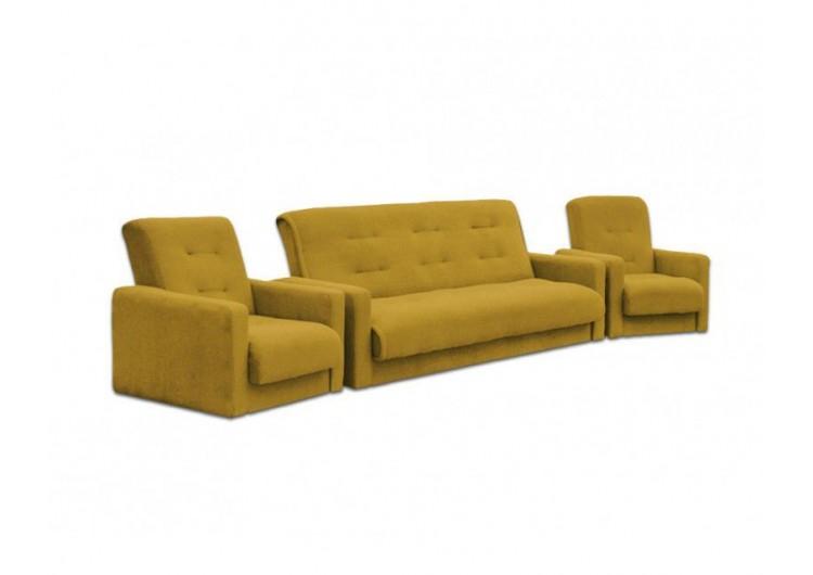 Диван Милан + 2 кресла желтый