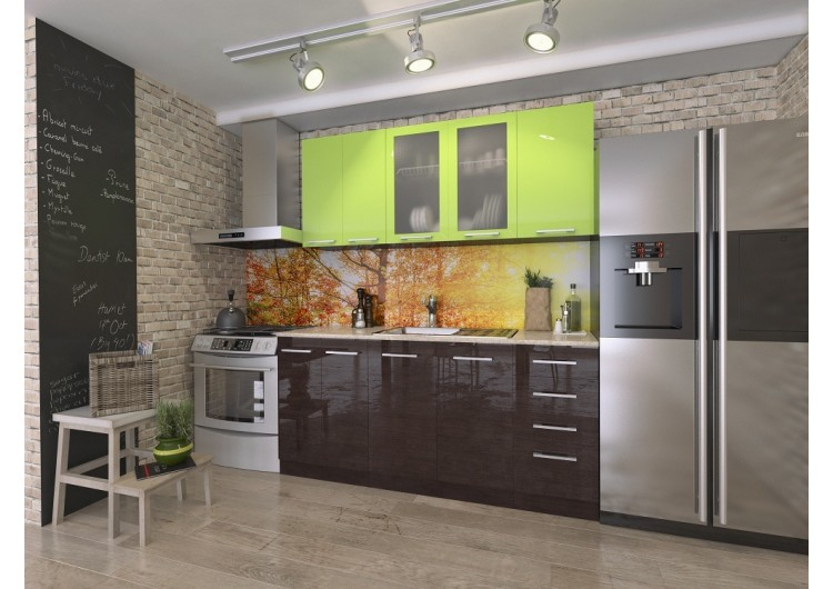 Кухня Рио Лайм/ Венге  1,8 м
