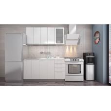 """Кухня """"Олива"""" белый металлик 1,6м"""