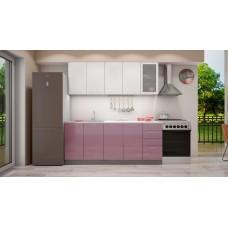 Кухня София верх белый металлик /низ сирень металлик 2,0 м