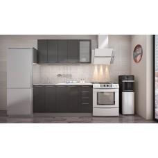 """Кухня """"Олива"""" черный металлик 1,6м"""