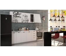 Кухня Интерьер-центр Чикаго  верх Coffe time / низ белая шагрень 1,8 м