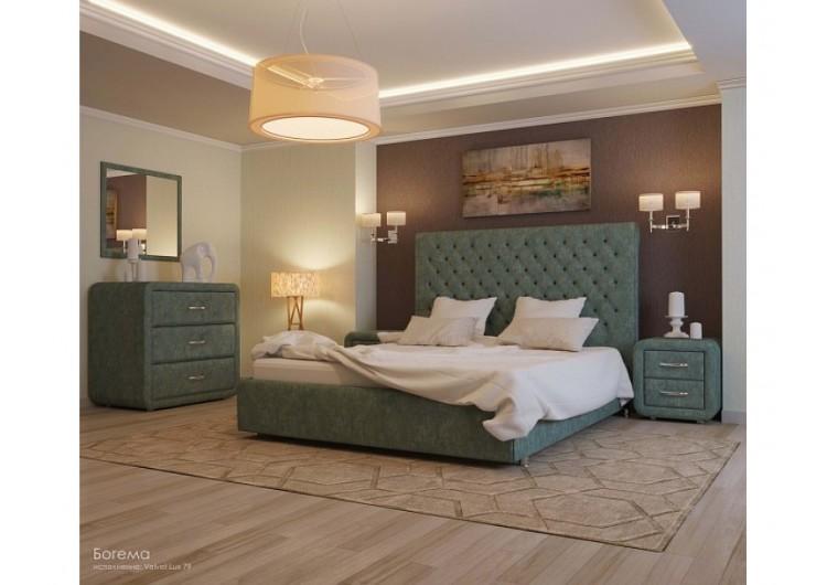 Кровать Уют Богема velvet lux 79