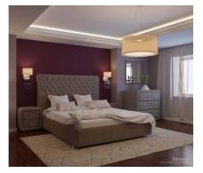 Кровать Уют Богема velvet lux 96