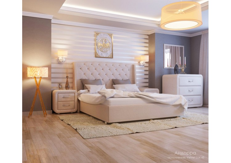 Кровать Андорра velvet lux 45