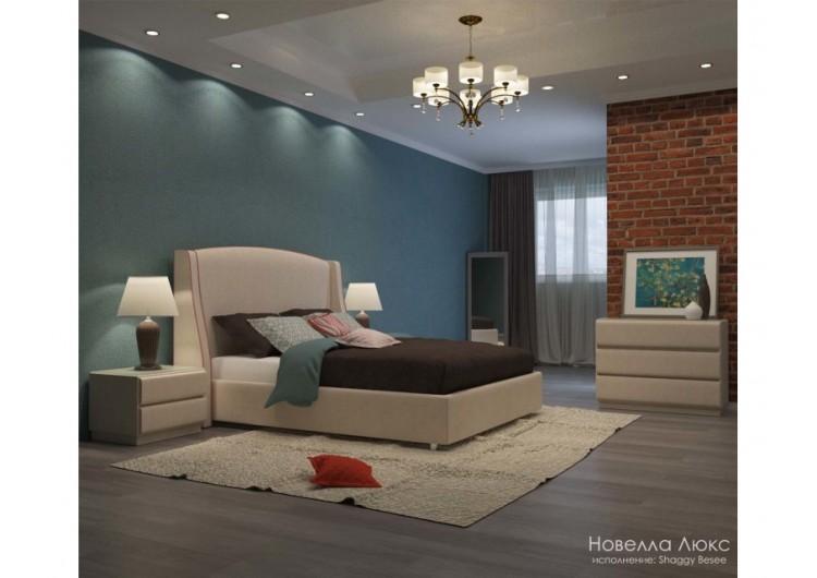 Кровать Новелла Люкс с кантом Shaggy Besee-Glance Mauve