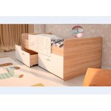 Кровать Умка  К-001  Белый глянец / Дуб сонома