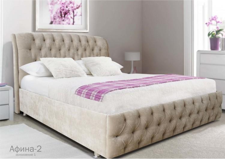 Кровать Афина 2 velvet lux 22