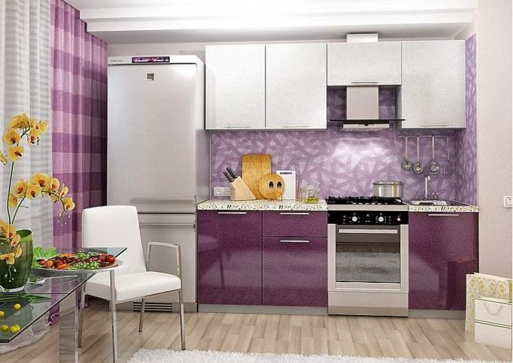 Кухня олива Белый / сирень 2,1 м