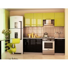 Кухня София  Дюна зеленая / черная 2,1 м
